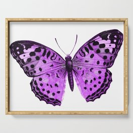 Luxurious Lilac-Pink Butterfly Serving Tray