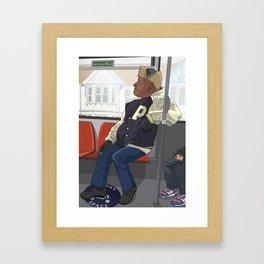 Mr P on the No. 5 Framed Art Print