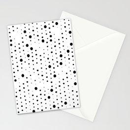 black white retro spot Stationery Cards