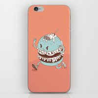 burger iPhone & iPod Skins featuring Burger by BIGMOUTH