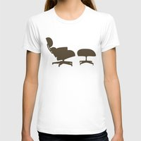eames T-shirts featuring Eames Lounge Chair and Ottoman by Green Bird Press