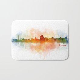 Rome city skyline HQ v03 Bath Mat