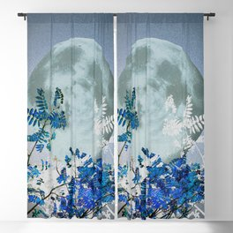 Super Moon v2 - Blue #buyart Blackout Curtain