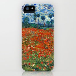 Vincent Van Gogh - Poppy Field iPhone Case