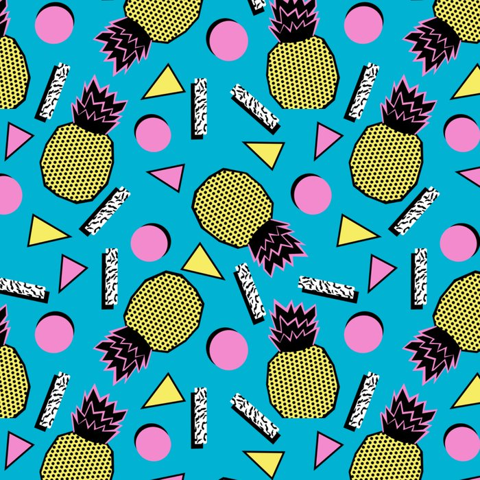 Primo - memphis retro throwback 1980s 80s neon style pop art wacka designs pineapple tropical fruit Leggings