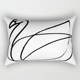 Swan, Brushed Ink Rectangular Pillow