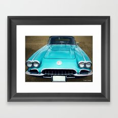 1960 Corvette Framed Art Print