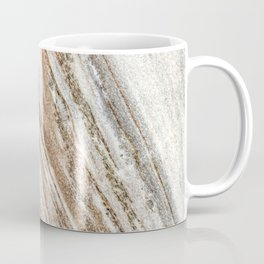 Marble Slab Texture // Gold Silver Black Gray White Stripes Luxury Rugged Rustic Rock Coffee Mug