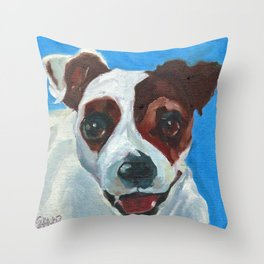 Buster the Pup Throw Pillow