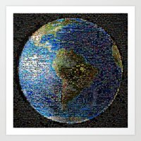 earth Art Prints featuring Earth  by 2sweet4words Designs