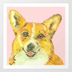 Corgi, printed from an original painting by Jiri Bures Art Print