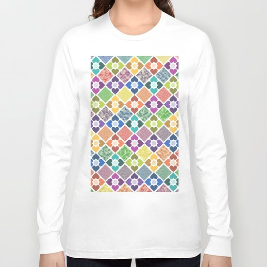 Colorful Floral Pattern III Long Sleeve T-shirt