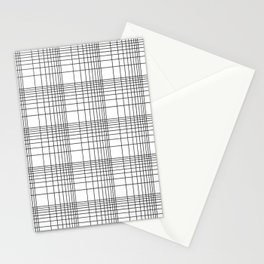 Simple Grid Pattern-Black on White - Mix & Match with Simplicity of life Stationery Cards