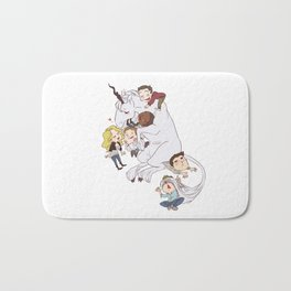 teens and wolves and unicorns Bath Mat