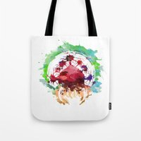 metroid Tote Bags featuring Metroid Watercolor by Insomniac