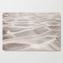 Sand Photography, Beach Photograph, Coastal Photo, Cream Beige Brown Neutral Cutting Board
