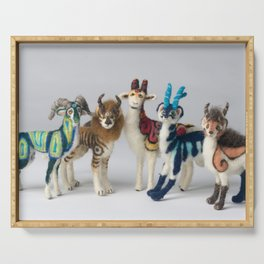 Fantastic Felted Beasts Serving Tray