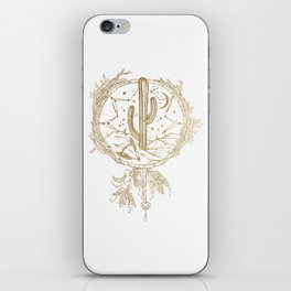 Desert Cactus Dreamcatcher in Gold iPhone Skin