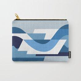 SUISSE - Art Deco Modern: BLUE MONDAY Carry-All Pouch