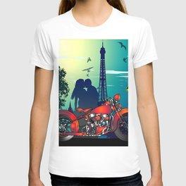 Romantic Kiss in Paris T-shirt