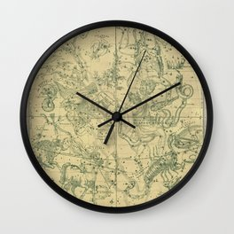 Antique Celestial Map December November October Wall Clock
