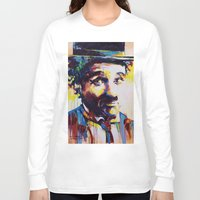 charlie chaplin Long Sleeve T-shirts featuring Charlie Chaplin by Marta Zawadzka