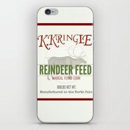 Christmas Reindeer Feed sack iPhone Skin