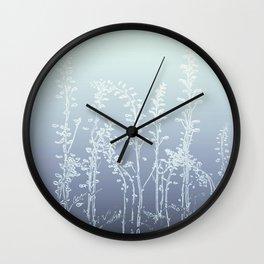 WILDFLOWERS BLUE AND PURPLE Wall Clock
