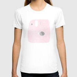 pink camera T-shirt