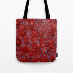 Red Buttons Tote Bag
