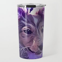 Shetland Sheepdog Puppy Travel Mug