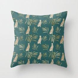Cheetah Eucalyptus Glam Pattern #3 #tropical #decor #art #society6 Throw Pillow