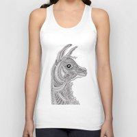 llama Tank Tops featuring Llama by Olya Goloveshkina