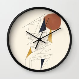 shapes and lines Wall Clock