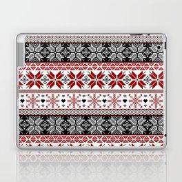Winter Fair Isle Pattern Laptop & iPad Skin
