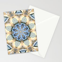 Blue And Gold Mandala Stationery Cards