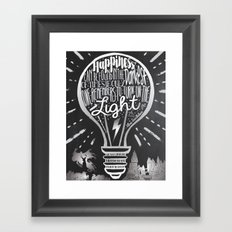 Happiness Can Be Found in the Darkest of Times Framed Art Print