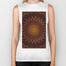 Mandala in warm brown tones Biker Tank