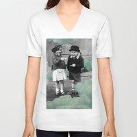 math V-neck T-shirts featuring mint math by Dan knugs