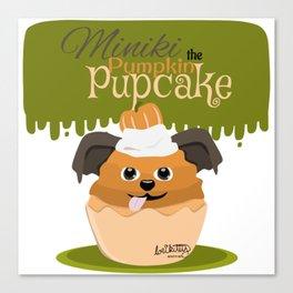 Miniki the Pumpkin Pupcake - Cupcake Critters Canvas Print