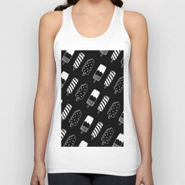 Summer Ice Lollies (Black) Unisex Tank Top