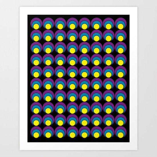 Circle pattern #1 Art Print
