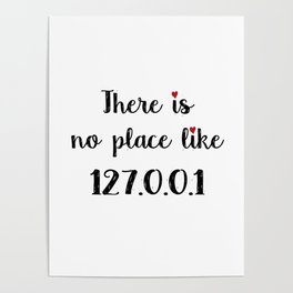 There is no place like - 127.0.0.1 Poster