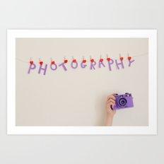 I ♥ Photography II Art Print