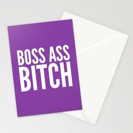 BOSS ASS BITCH (Purple) Stationery Cards