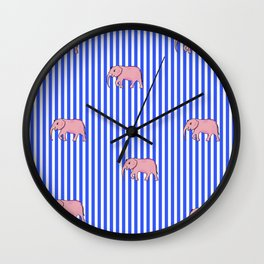 strip and elephants (https://society6.com/vickonskey/collection) Wall Clock