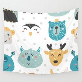 Baby Animals - Fantasy and Woodland Creatures Pattern Wall Tapestry