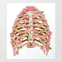 Blossoms Ribs Art Print