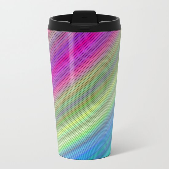 Curved colorful dream Metal Travel Mug
