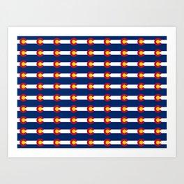 colorado pattern Art Print